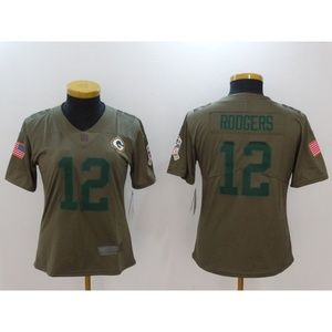 Women Green Bay Packers Aaron Rodgers Jersey (5)